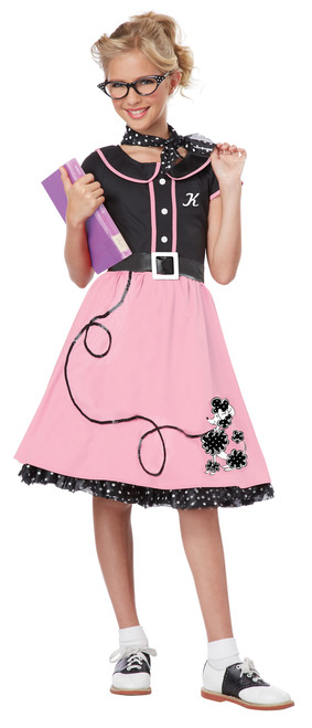50s Children's Sweetheart Poodle Skirt Costume