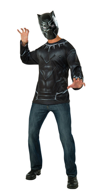 Black Panter Civil War Shirt Costume