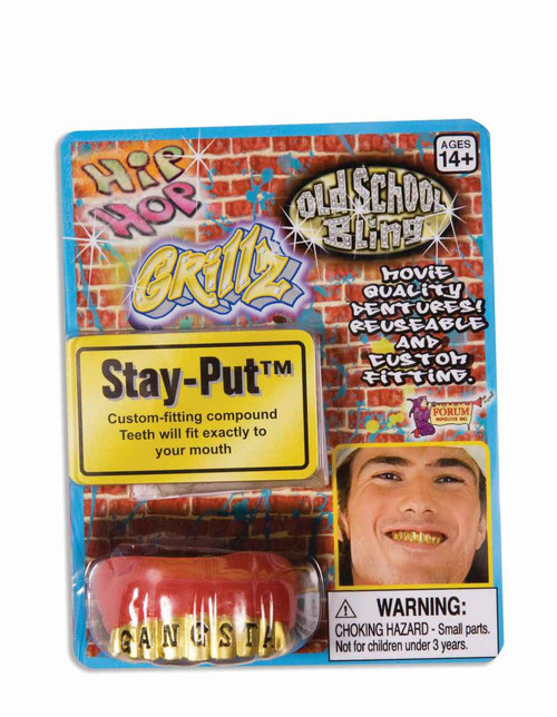 Gangsta Gold Grillz Teeth Accessory