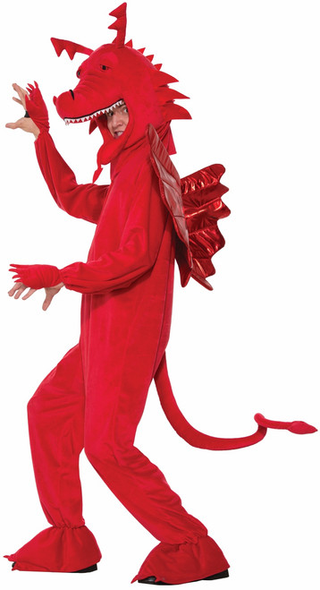 Adult Plush Red Dragon Costume