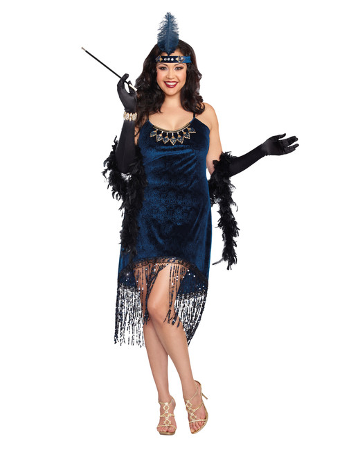 20s Downtown Doll Flapper Costume - Plus Size