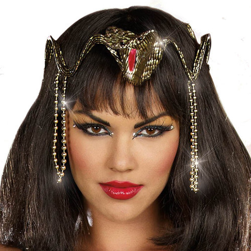 Gold and Black Snake Crown Headpiece