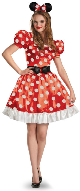 Red Classic Minnie Mouse Ladies Costume