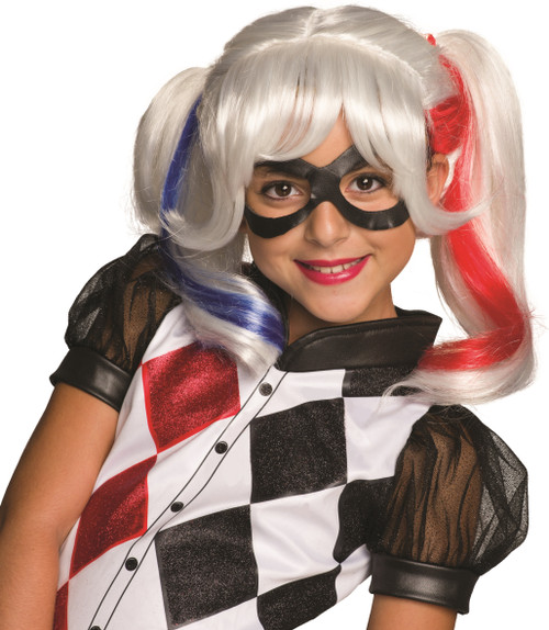 Children's Harley Quinn DC Super Hero Girls Wig