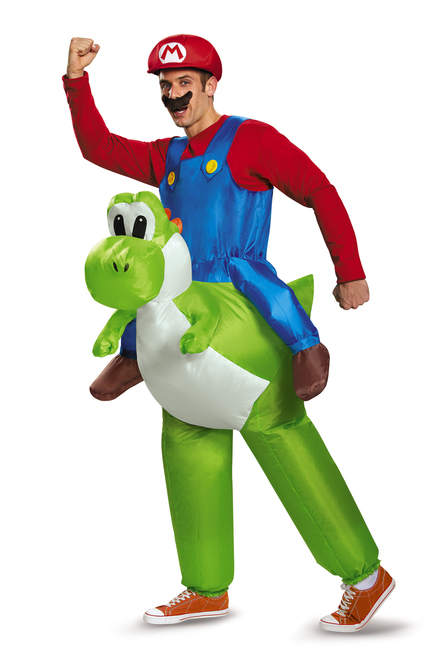 Super Mario Riding Yoshi Men's Costume
