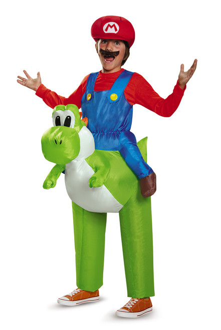 Mario Riding Yoshi Inflatable Children's Costume