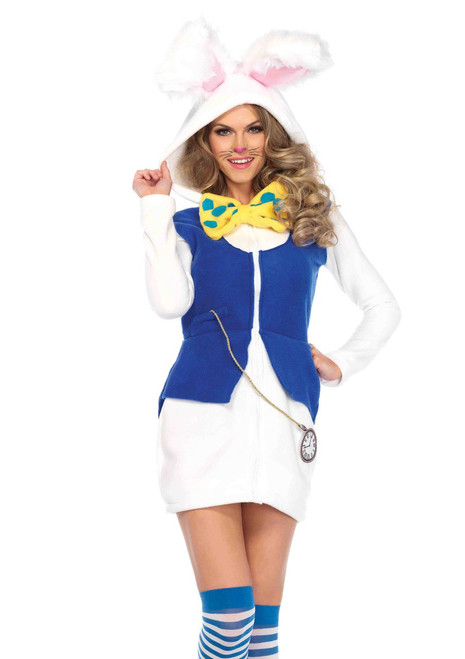 Cozy White Rabbit Women's Costume Dress