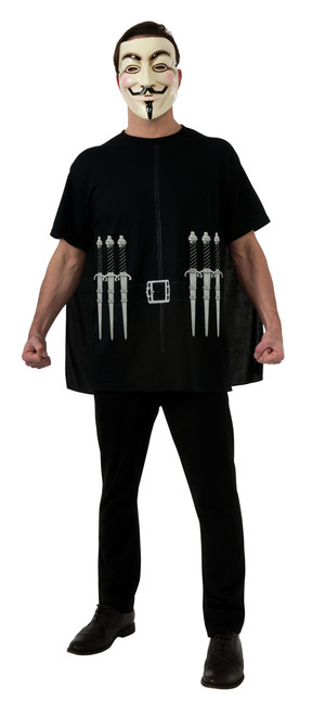 V for Vendetta Adult Shirt Costume Kit