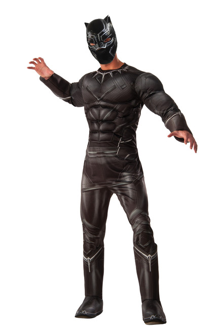 Adult Black Panther Muscle Civil War Costume