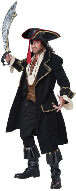 Deluxe Black Pirate Captain Costume