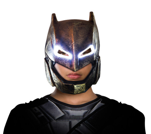 Amoured DOJ Batman Light Up Child Mask