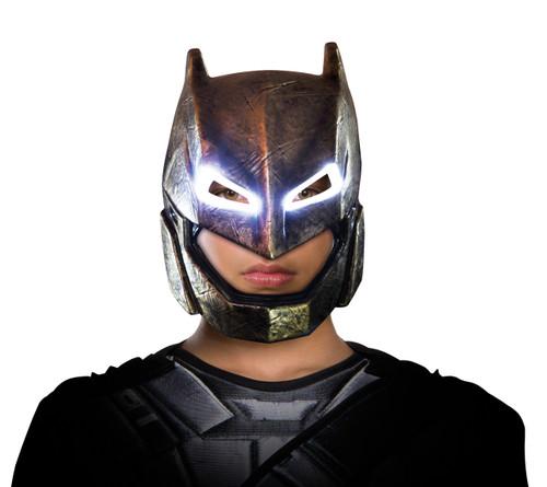 Amoured DOJ Batman Light Up Child Mask