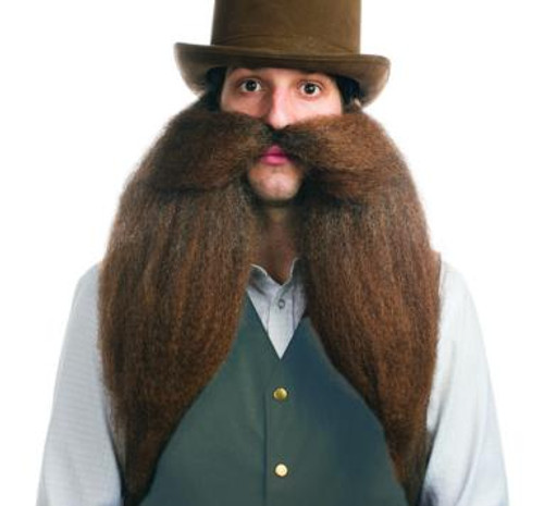 Saloon Keeper Elastic Band Beard and Moustache/Mustache