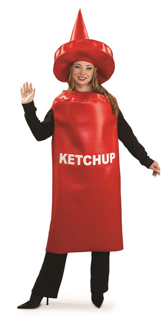 Funny Adult Ketchup Bottle Costume