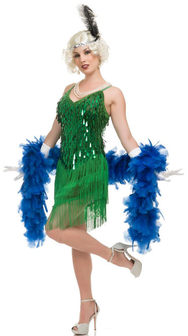 20s Green Flapper Dress Costume