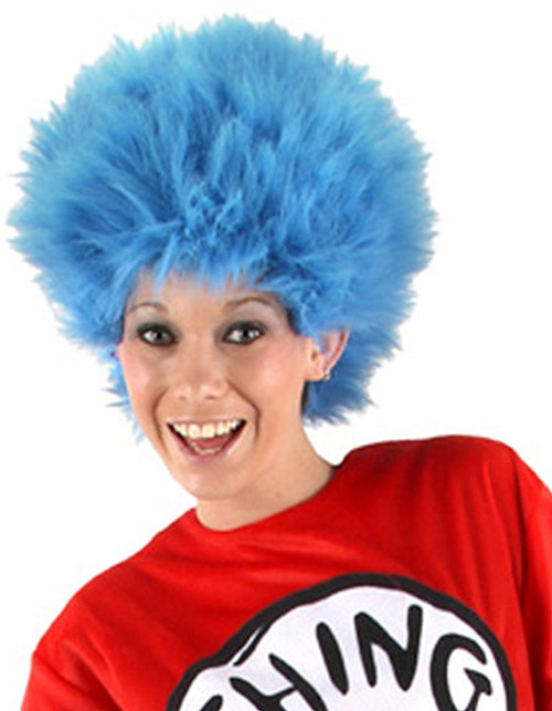 Thing 1 or 2 Fuzzy Blue Wig