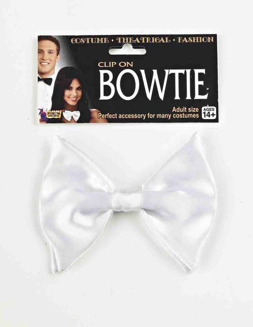 Classic White Clip-On Bowtie