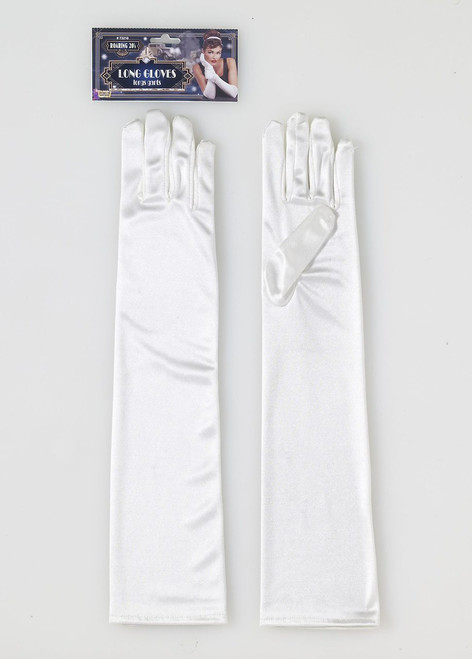 Roaring 20s Long Ivory Gloves
