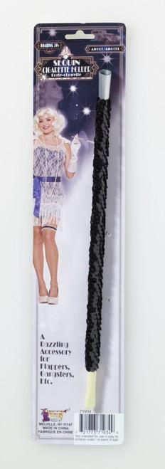 Black Sequin 20s Cigarette Holder