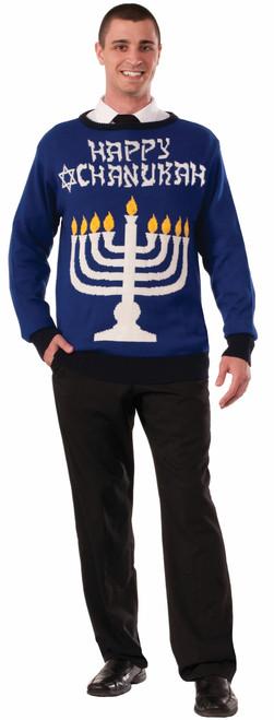 Chanukah Haukkah Menorah Sweater