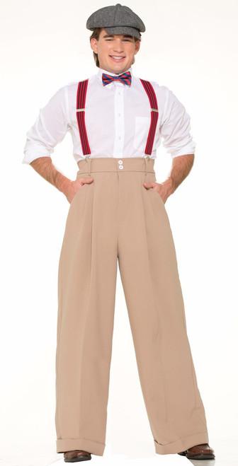 Roaring 20s Mens Beige Pants