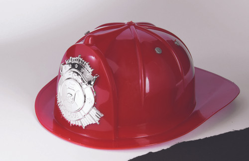 Child Red Fireman Helmet