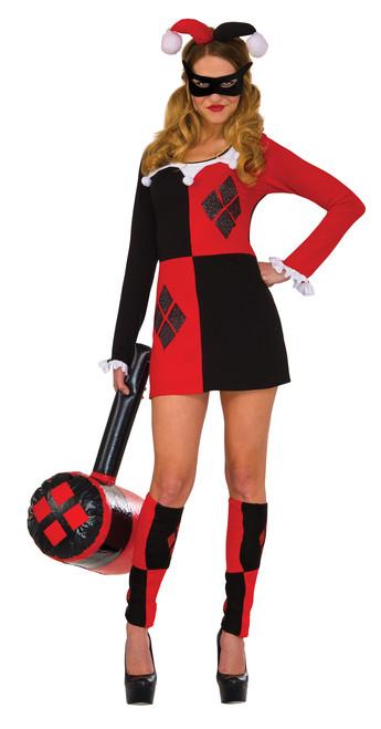 Glitter Harley Quinn Dress Costume