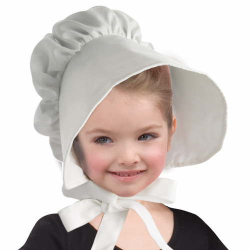 Child's White Bonnet Hat