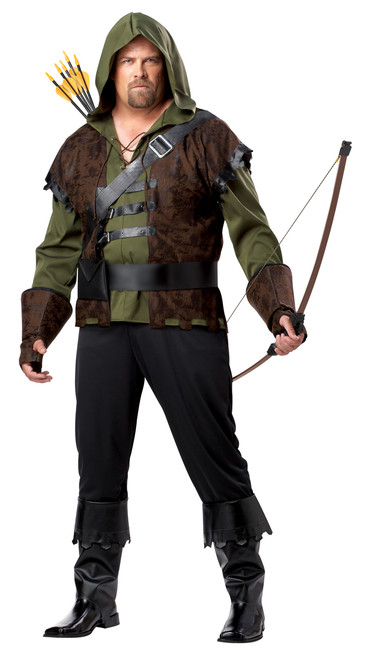 Mens Plus Robin Hood Costume