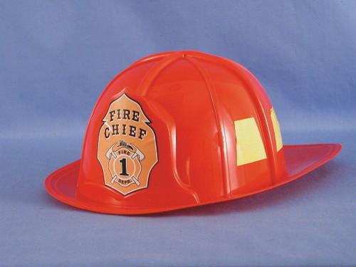 Red Plastic Fireman Hat