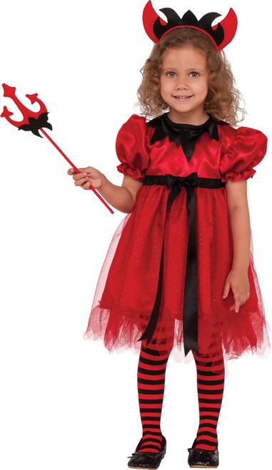 Girls Pretty Devilish Costume