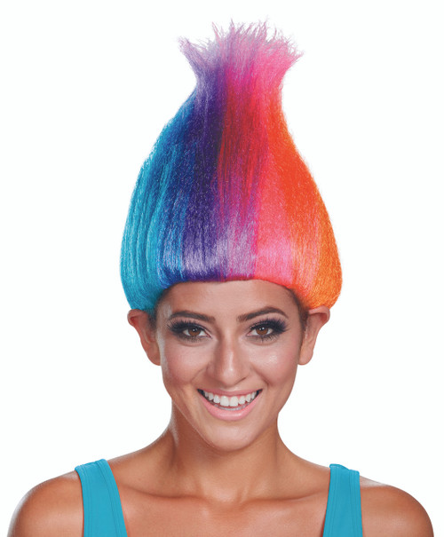 Licensed Rainbow Troll Adult Wig