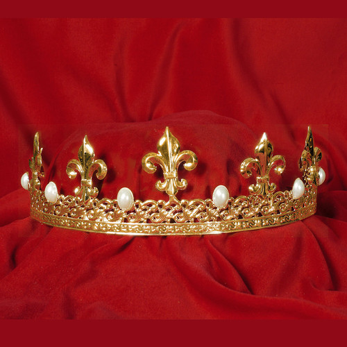Royal Fleur & Pearl Gold Crown