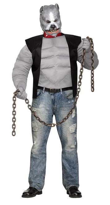 Adult Plus Pit Bull Biker Costume
