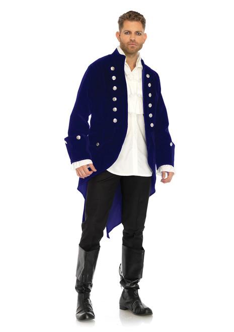 Mens Long Velvet Beast Coat Costume