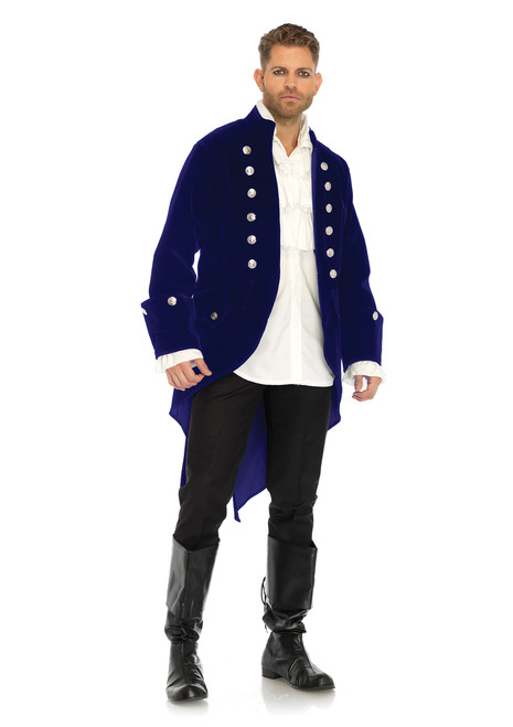 Mens Long Velvet Beast Coat Costume