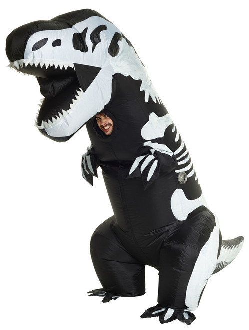 Inflatable Giant T-Rex Skeleton Adult Costume
