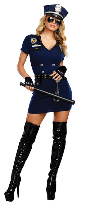 Ladies Officer Pat Down Sexy Police Costume