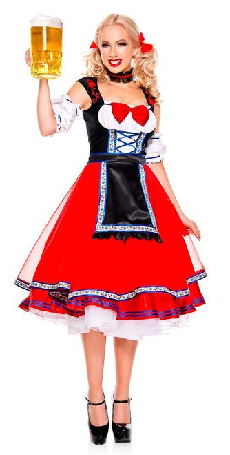 Ladies Long Beer Girl Oktoberfest Costume cfbd014b2e9f