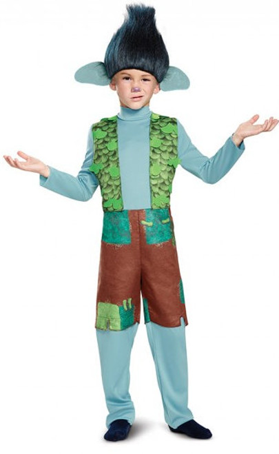 Children's Deluxe Branch Trolls Costume with Wig