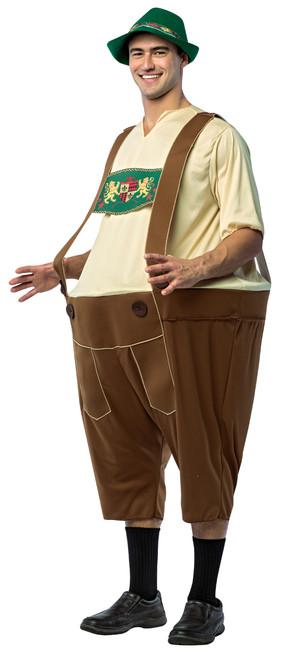 Mens Funny Lederhosen Oktoberfest Hoopster Costume
