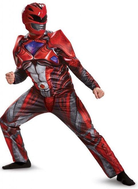 Adult Red Power Ranger Movie Costume