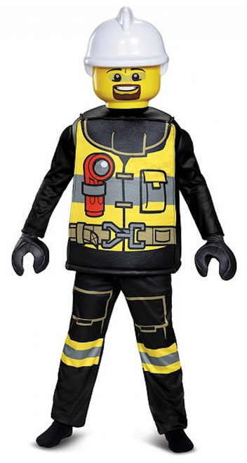 Lego Firefighter Deluxe Kids Costume