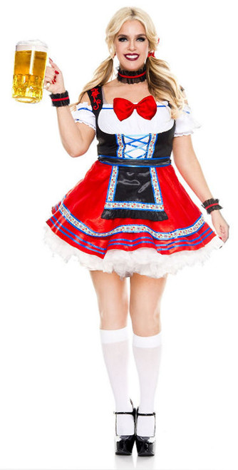 Oktoberfest Beer Babe Costume - Plus Size