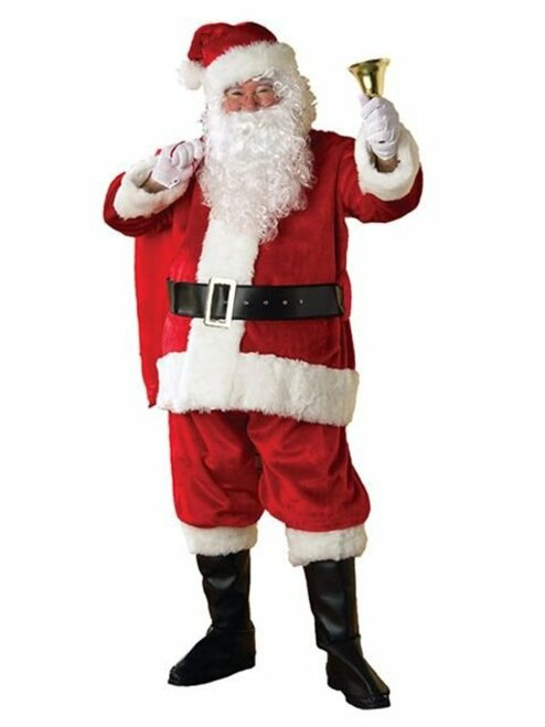 "Plus 50-54"" Regency Red Plush Santa Costume"