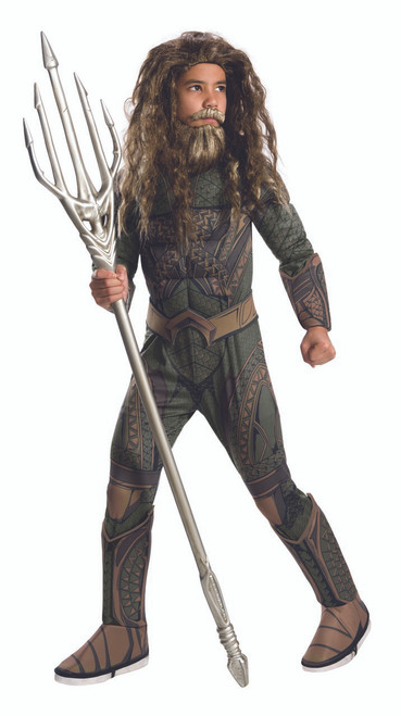Aquaman Justice League Deluxe Kids Costume