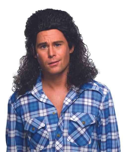 Perm Mullet Jagr-Like 80s Wig
