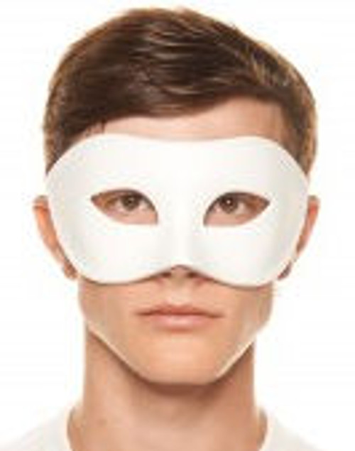 Classic White Molded-Plastic Masquerade Mask