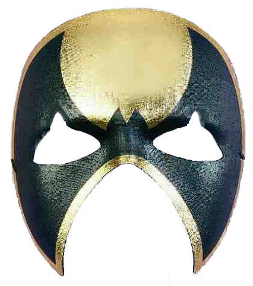 Black and Gold Bat Masquerade Mask