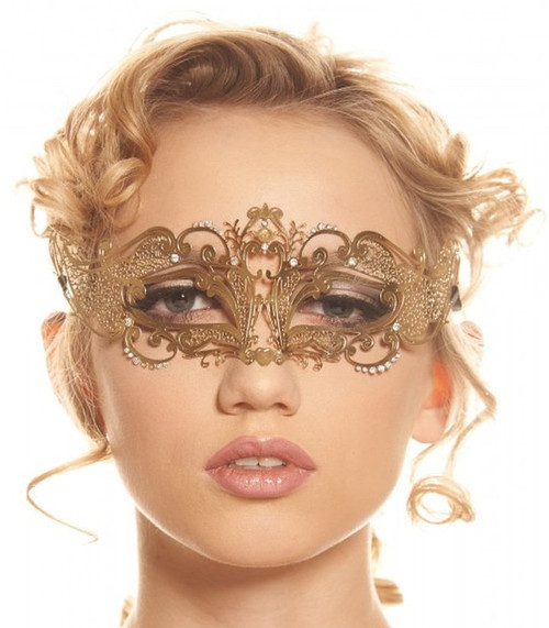 Gold Metal Masquerade Mask
